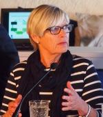 Berit Gullbransson, SP, vid ett Ecopol-seminarium i Almedalen 2013.